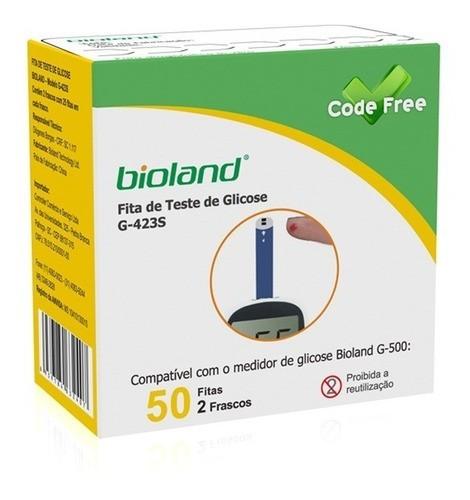 Fita De Teste De Glicose Bioland G-500