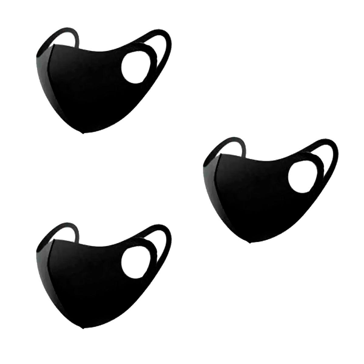 Kit 3 Máscaras NEOPRENE Emborrachada Lavável Higienizável