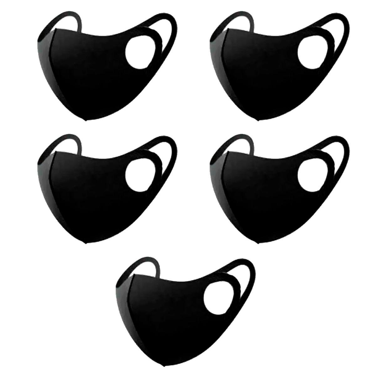 Kit 5 Máscaras NEOPRENE Emborrachada Lavável Higienizável