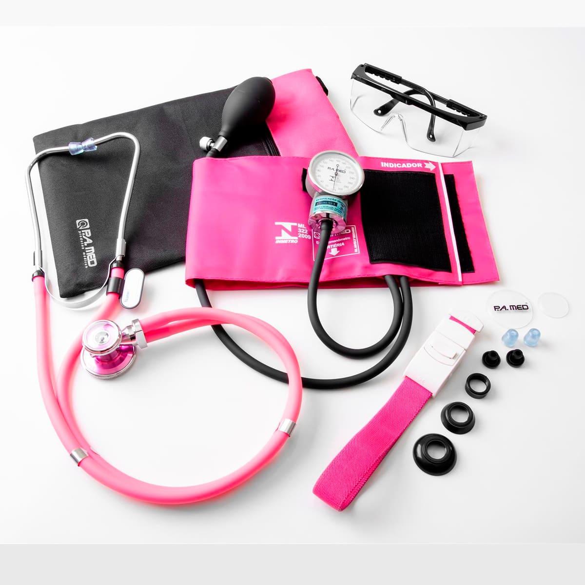 Kit acadêmico de enfermagem c/ Medidor de Pressão e estetoscópio rappaport - P.a. med