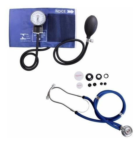 Kit Aparelho De Pressão E Estetoscópio Azul - Premium