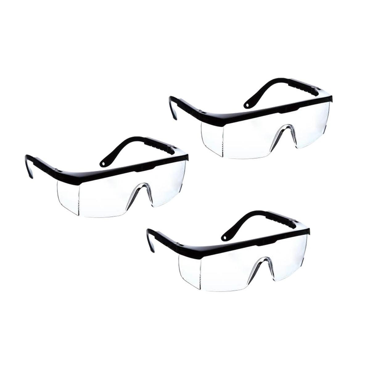 kit com 3 Óculos de segurança