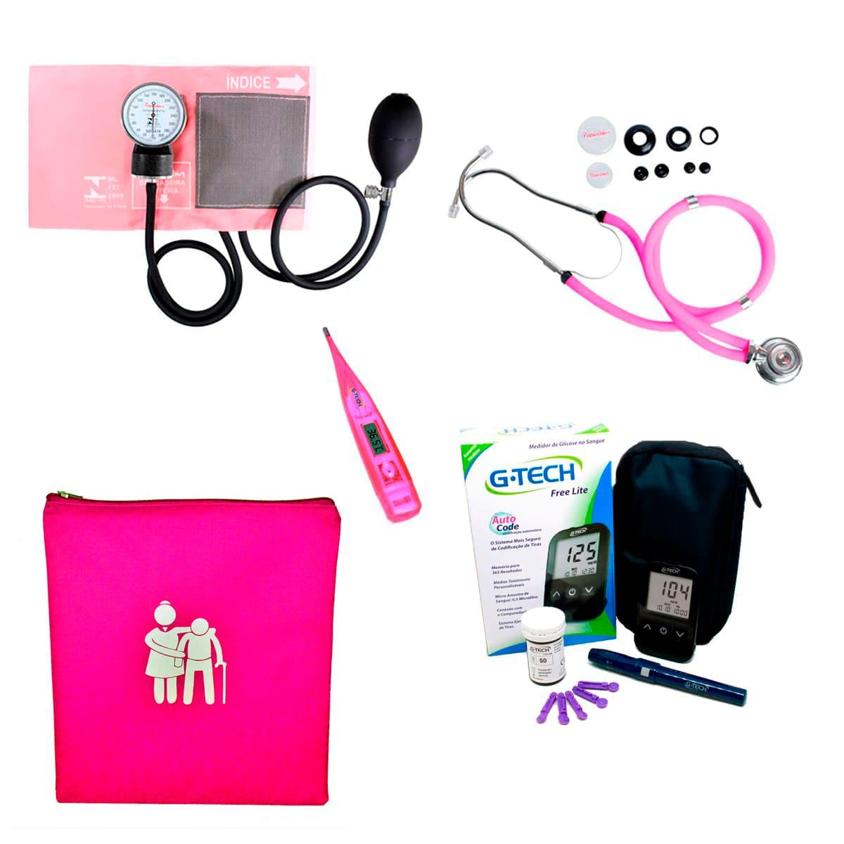 Kit Cuidador De Idoso Com Porta Jaleco Premium