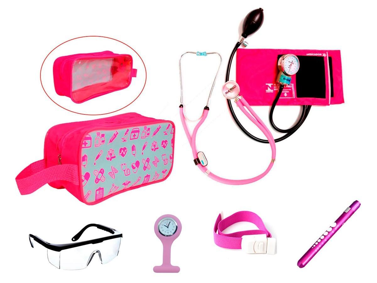 Kit de Enfermagem PAMED com aparelho de pressão e necessaire
