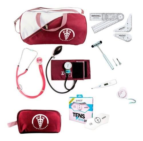 Kit De Fisioterapia Com Aparelho De Pressão Martelo E Tens