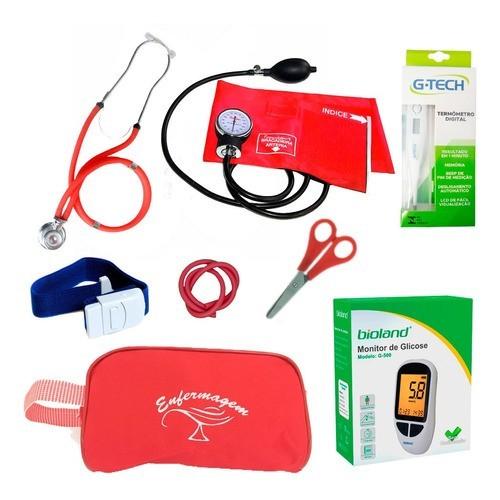 Kit Enfermagem Colorido Completo Com Medidor De Pressão Luxo