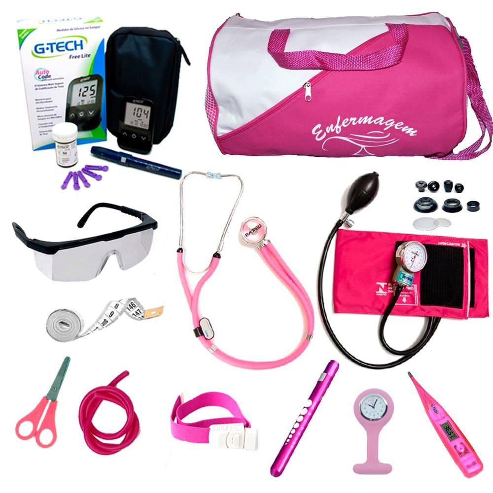 Kit Enfermagem Com Esfigmo P.a.med Luxo Com Brinde