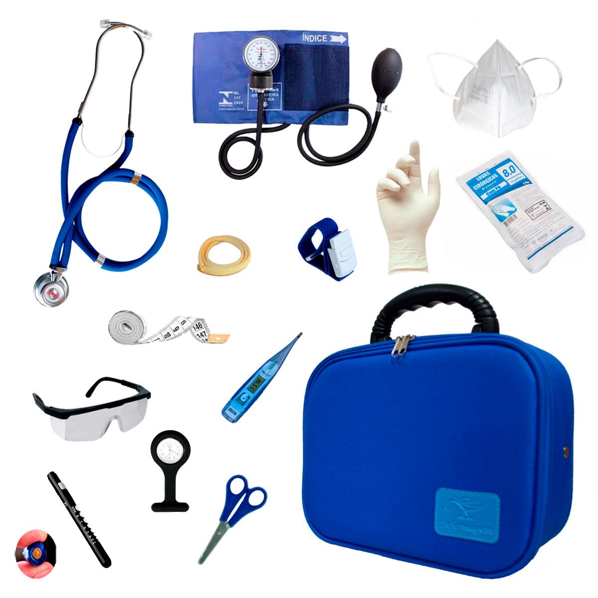 Kit Enfermagem Com Maleta Acadêmica Luxo Completo (MOD03)