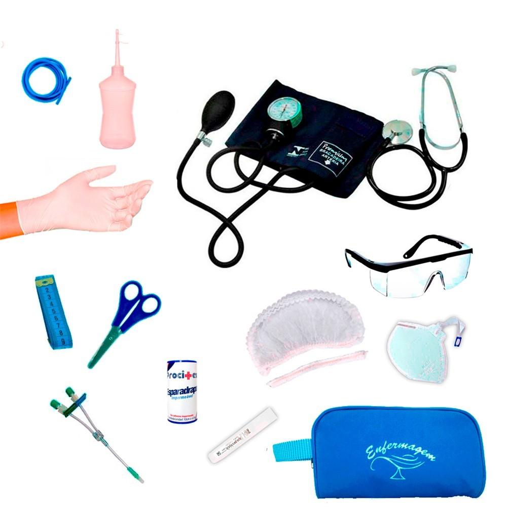 Kit Enfermagem Completo Com Descartáveis 20 Itens