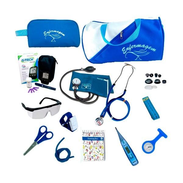 Kit Enfermagem Completo Com Kit Medidor De Glicose G-tech