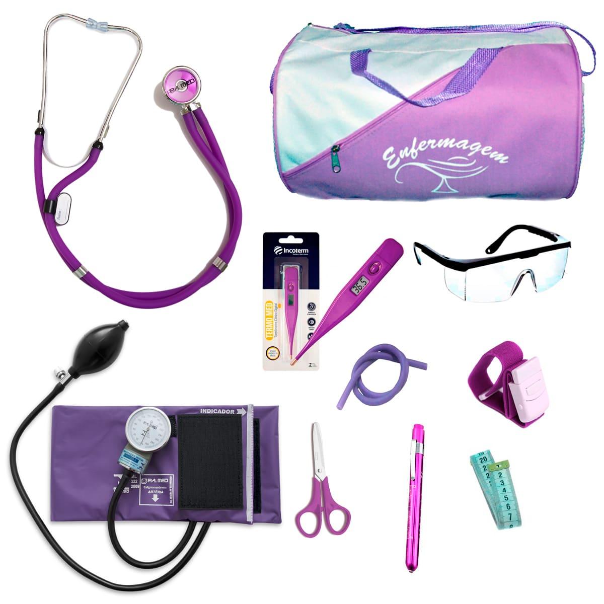 Kit Enfermagem mod.18 Aparelho de Pressão P.A.MED Cor:Lilas