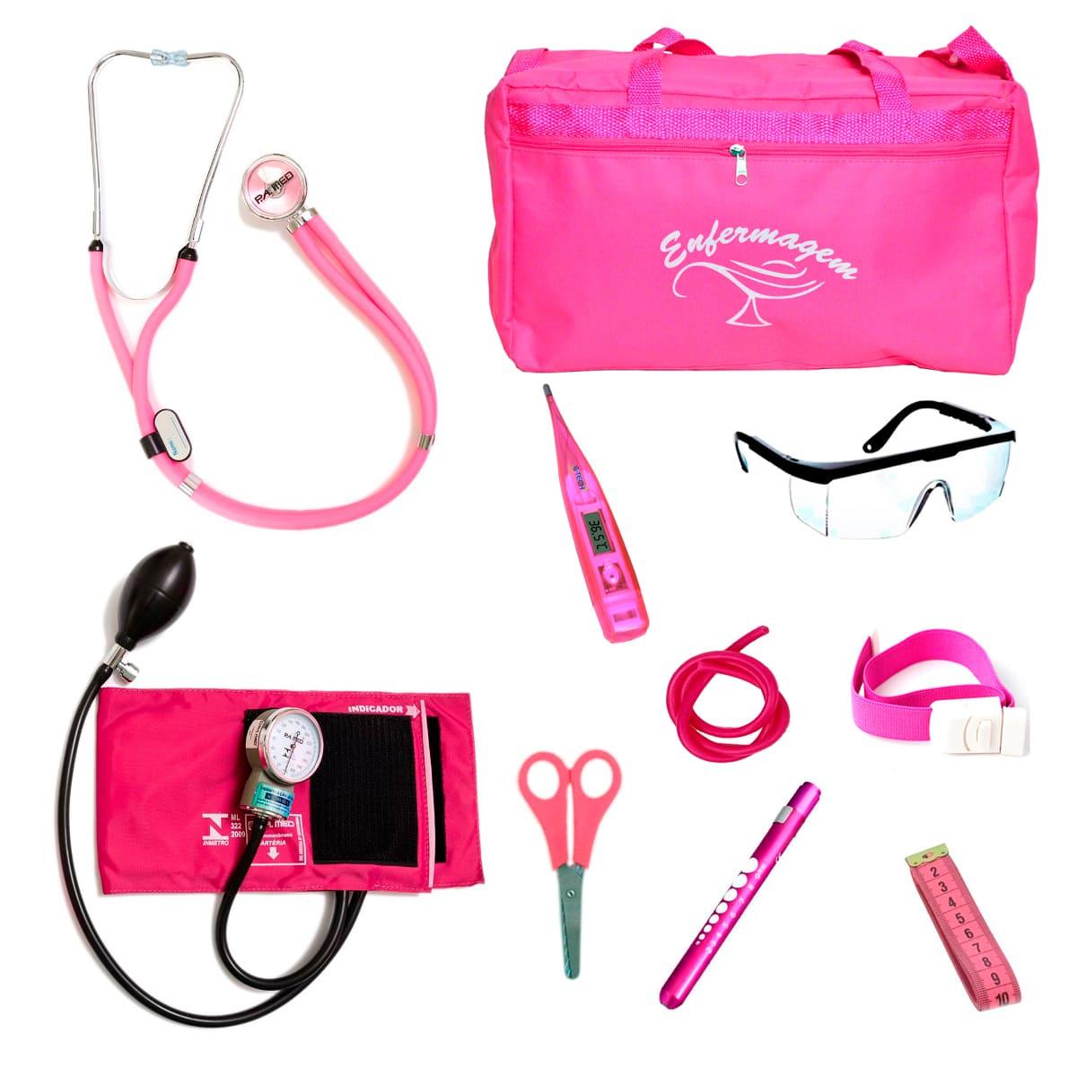 Kit Enfermagem mod.18 Aparelho de Pressão P.A.MED Cor:Pink Bolsa:Tipo 2