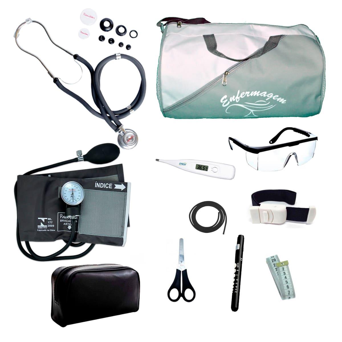 Kit Enfermagem mod.18 Aparelho de Pressão Premium Cor:Cinza
