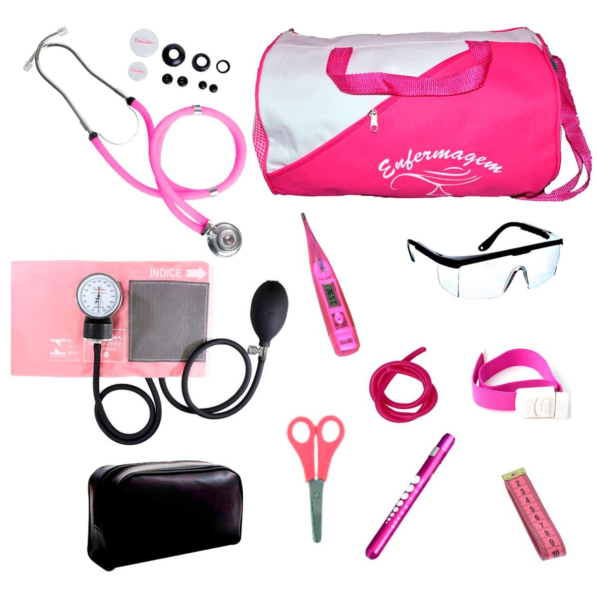 Kit Enfermagem mod.18 Aparelho de Pressão Premium Cor:Pink