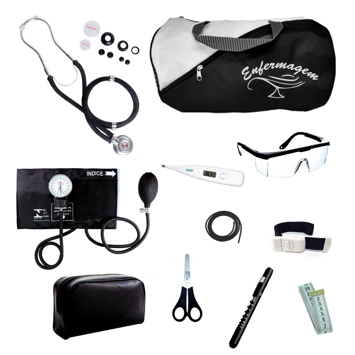 Kit Enfermagem mod.18 Aparelho de Pressão Premium Cor:Preto