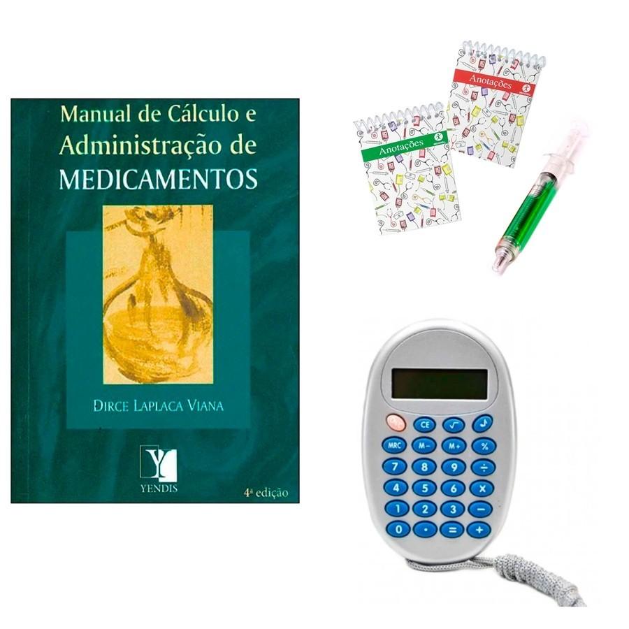 Kit Manual de cálculo e administração de medicamentos