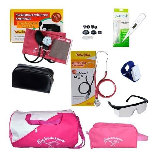 Kit Medidor De Pressão Bolsa Pink - Pronta Entrega
