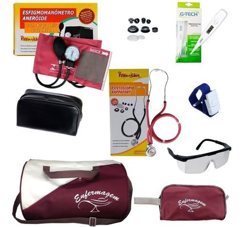 Kit Para Enfermagem Medidor De Pressão C/ Nota - Top!