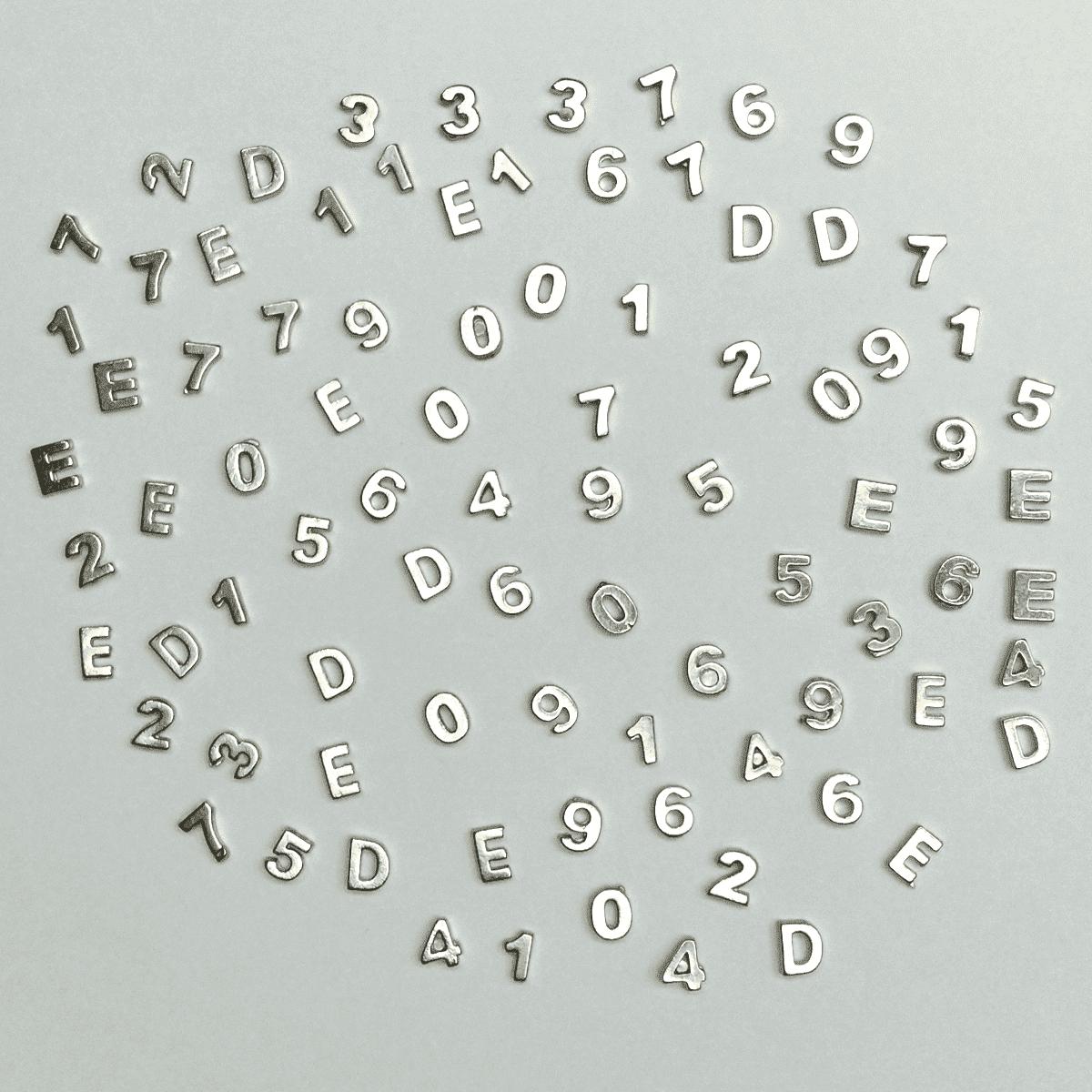 Números Ou Letras De Chumbo Avulso 7mm