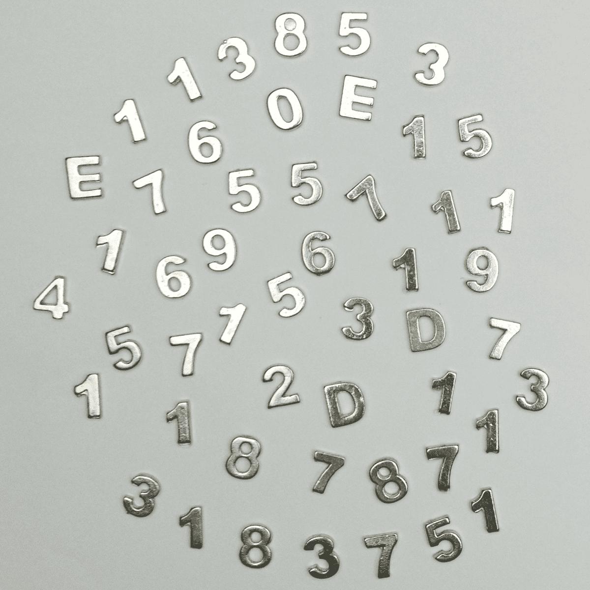 Números Ou Letras De Chumbo Avulso 9mm