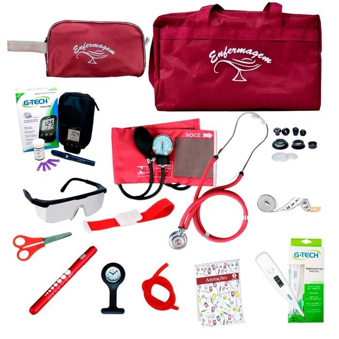 Super Kit Enfermagem Delux Med. Glicose G-tech Top