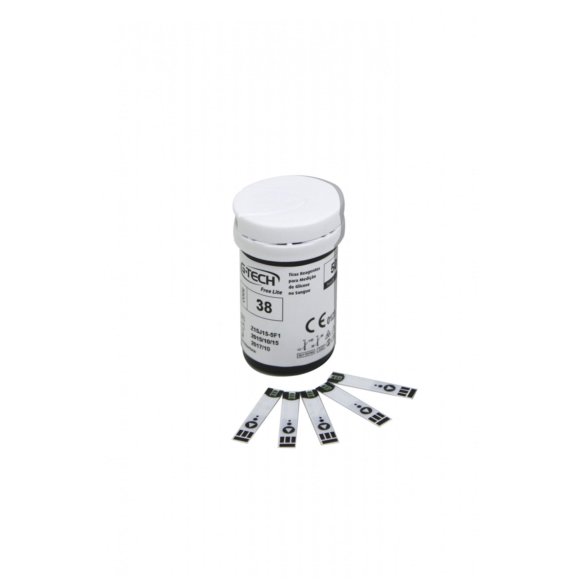 Tiras reagentes G-tech free lite / 50 unidades