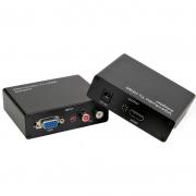 Adaptador Conversor Vga Fêmea C/ Audio Para Hdmi Knup Kp-3458 tv Vga2Hdmi