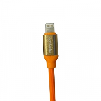 Cabo para Iphone Ipad Lightining Inova 2.4A Cbo-5522 Led Branco / Azul -  1mt