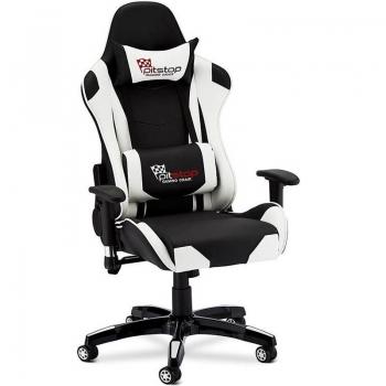 Cadeira Gamer Pit Stop Giratória Reclinável Xh-8062 Branca