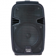 Caixa De Som Amplificada Multilaser Trolley Sp258 100w Karaoke Usb Sd Card Radio