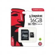 Cartão De Memória Micro Sd Card 16gb Kingston Sdcs/16gb Cl10