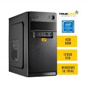 Computador Desktop True Data Celeron 4gb Ssd 120gb Win10 Trial Monitor 18.5 Aoc