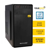 Computador Desktop True Data I3-8100 3.6ghz 4gb Ssd 240gb Win10 Trial