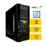 Computador Desktop True Data Intel Core I7-8700 3.2ghz 4gb Ssd 240gb Gt710 Win10 Trial