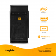 Computador Desktop Truedata Core I3-2100 3.1ghz 4gb Ssd 120gb Win10 Trial