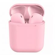 Fone De Ouvido Bluetooth Tipo Iphone Inpods 12 Macaron Rosa