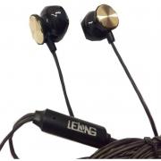 Fone De Ouvido C/Microfone Lelong Le-0209 Preto C/Dourado
