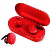 Fone de Ouvido Headphone Bluetooth Tws Dt1 Vermelho