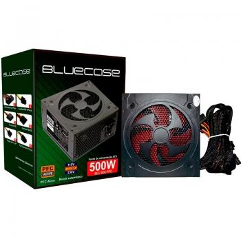 Fonte Real 500w Pfc Ativo Bluecase Blu500pfc
