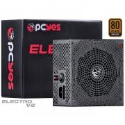 Fonte Real 750w Electro V2 Series PC Yes 80 Plus Pfc Ativo - ELECV2PTO750W