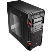 Gabinete Gamer Aerocool Atx Gt Widow Black En58683 - Pn 62962