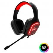 Headset Gamer KWG K-World Taurus E1 C/ Led Vermelho
