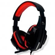 Headset Gamer Multilaser P2 Preto E Vermelho Ph120