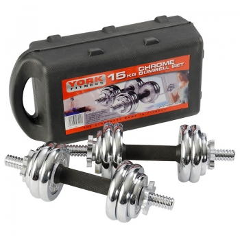Kit Halteres 15kg Box 1304 York Fitness - 5833