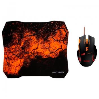 Kit Mouse + Mousepad Gamer Usb Multilaser Quickfire - MO256
