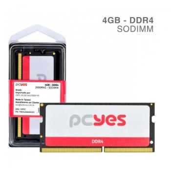 Memoria para Notebook Ddr4 4gb 2666Mhz PCYes PM042666D4SO