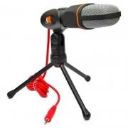 Microfone Para Computador Com Suporte Micro Condensador Bmax Bm888