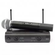 Microfone Profissional Sem Fio Lelong Le - 906 Duplo