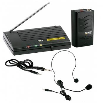 Microfone Sem Fio Skp Auricular Vhf855