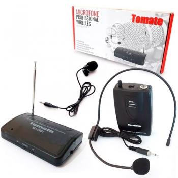 Microfone Sem Fio Tomate Auricular E Lapela Co11